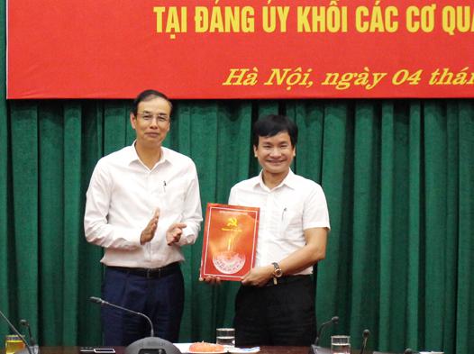 Hà Nội: Công bố Quyết định công tác cán bộ tại ĐUK các CQ Thành phố, huyện Phúc Thọ và Thạch Thất