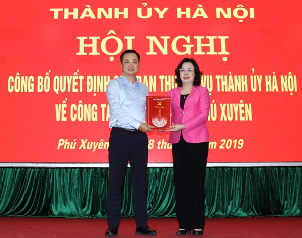 Hà Nội: Phú Xuyên, Thanh Trì có Bí thư Huyện ủy mới