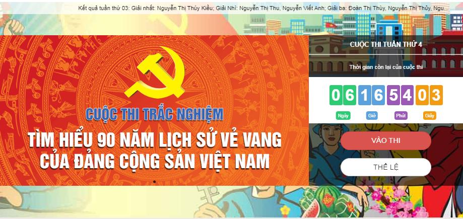 [Infographic] 128.752 lượt người dự thi tìm hiểu lịch sử Đảng