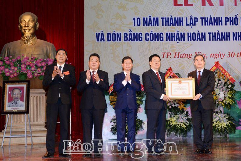 Thành phố Hưng Yên hoàn thành nhiệm vụ xây dựng nông thôn mới