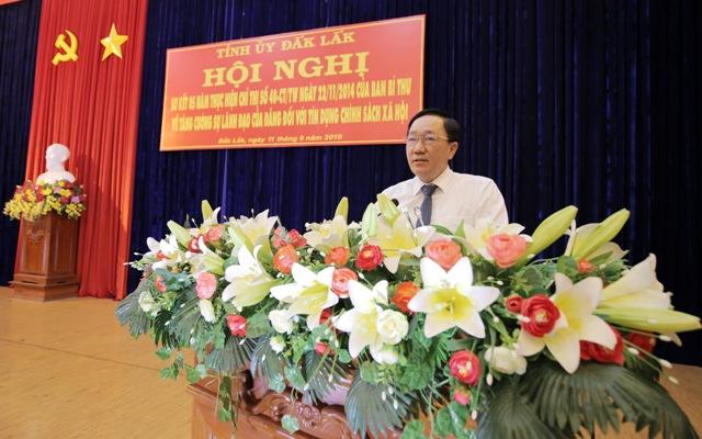 Sơ kết 05 năm triển khai Chỉ thị số 40 tại tỉnh Đắk Lắk