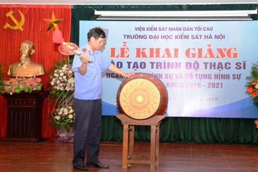     Trường Đại học Kiểm sát Hà Nội khai giảng khóa 1 đào tạo trình độ Thạc sĩ