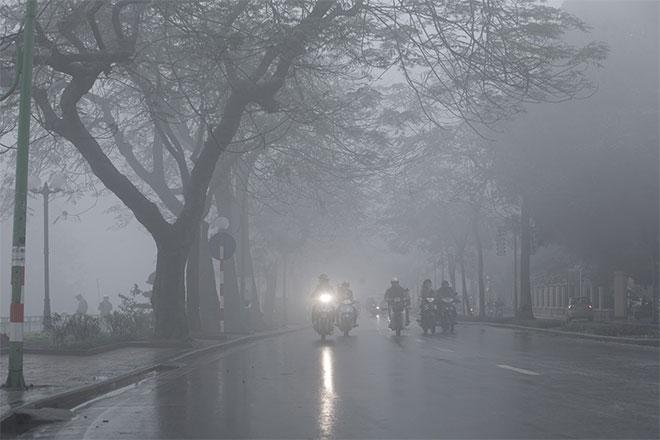 Bắc Bộ sáng sớm có sương mù, trời lạnh về đêm và sáng