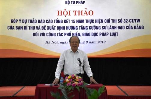 Tăng cường sự lãnh đạo của Đảng đối với công tác phổ biến, giáo dục pháp luật
