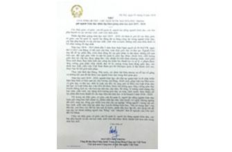 Tổng Bí thư, Chủ tịch nước gửi thư chúc mừng ngành Giáo dục nhân dịp khai giảng năm học mới