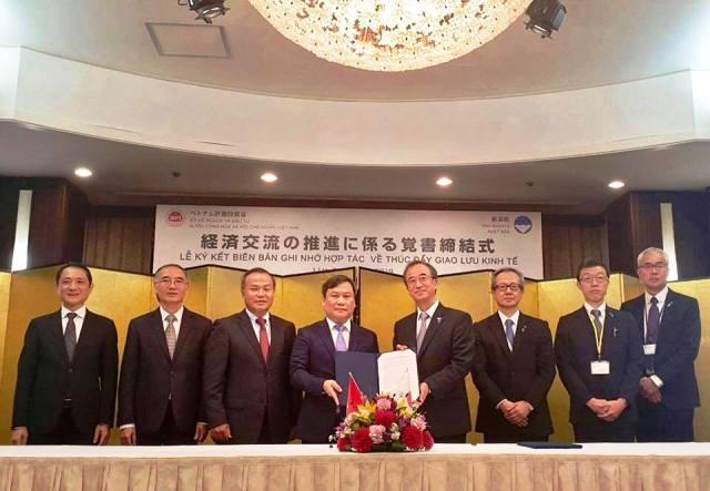 Ký kết ghi nhớ thúc đẩy giao lưu kinh tế Việt Nam và Nhật Bản