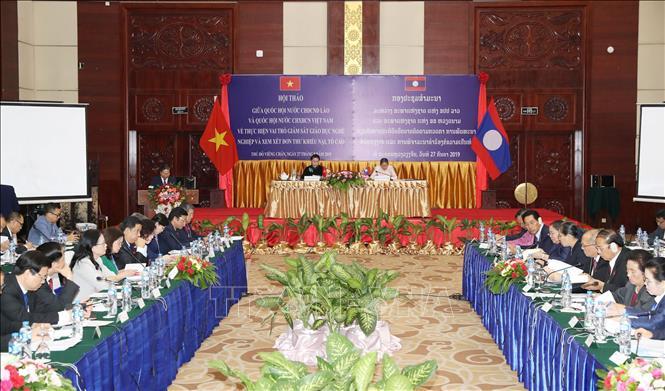 Phối hợp chặt chẽ giữa Quốc hội hai nước Việt Nam - Lào