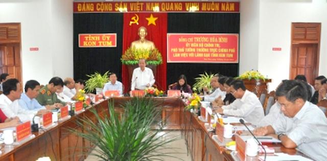 Kon Tum cần thực hiện tốt chính sách đối với đồng bào dân tộc thiểu số, hộ nghèo