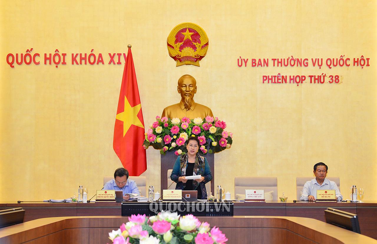 Ủy ban Thường vụ Quốc hội bế mạc phiên họp 38
