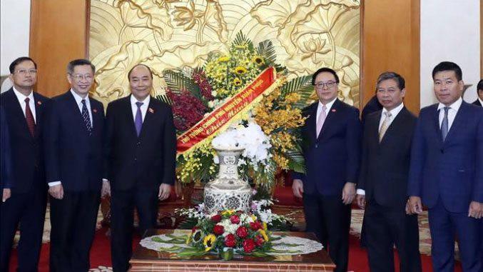 Thủ tướng Nguyễn Xuân Phúc chúc mừng Ban Đối ngoại Trung ương Đảng   🎥