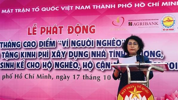 """TP. Hồ Chí Minh: Tháng cao điểm """"Vì người nghèo"""" sẽ có nhiều hoạt động thiết thực"""