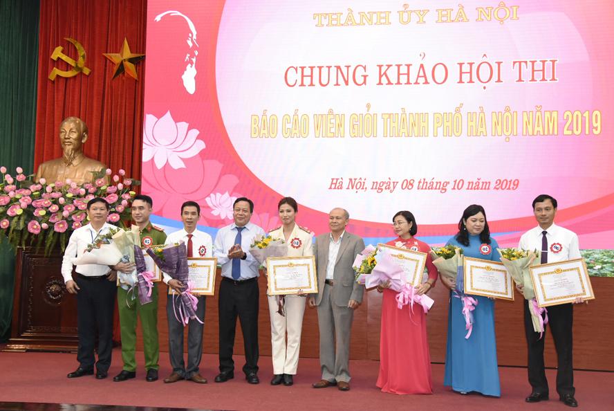 Chung khảo Hội thi báo cáo viên giỏi thành phố Hà Nội năm 2019