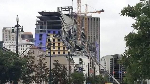 Sập khách sạn tại thành phố New Orleans (Mỹ) gây nhiều thương vong