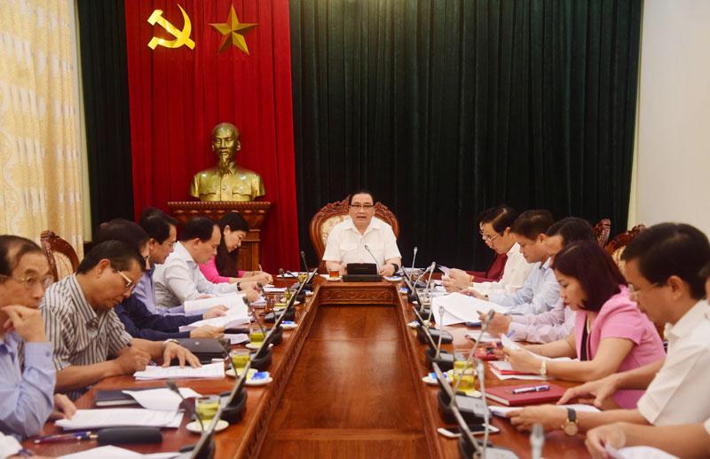 Bí thư Thành ủy Hà Nội Hoàng Trung Hải: Chuẩn bị tốt cho tổng kết Chương trình 01-CTr/TU