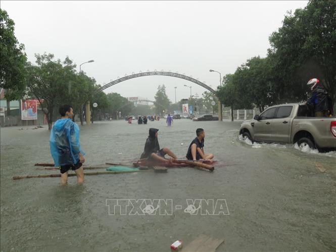 Ngập lụt nghiêm trọng tại Nghệ An