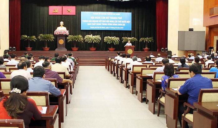 TP. Hồ Chí Minh thông báo nhanh kết quả Hội nghị lần thứ 11 Ban Chấp hành Trung ương Đảng khóa XII