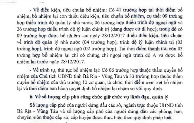 Bà Rịa - Vũng Tàu: Bổ nhiệm 41 trường hợp thiếu điều kiện, tiêu chuẩn