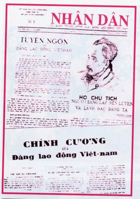 Báo Nhân dân - cơ quan Trung ương của Đảng Lao động Việt Nam - ra số đầu tiên