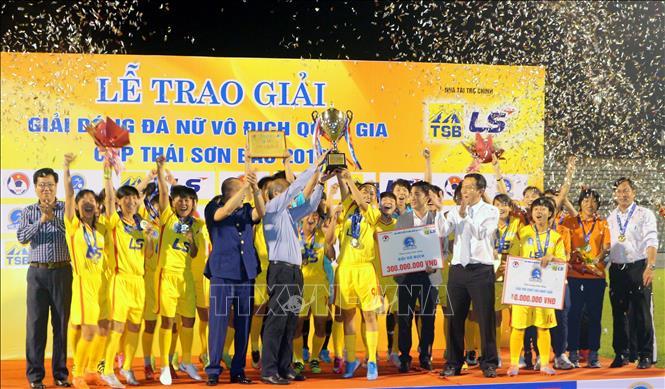 Đội tuyển TP Hồ Chí Minh 1 vô địch Giải bóng đá nữ Cup Thái Sơn Bắc