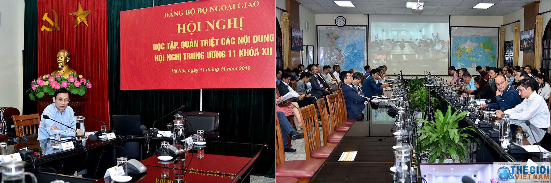 Tổ chức Đảng bộ ngoài nước, Bộ Ngoại giao theo tinh thần Nghị quyết TƯ