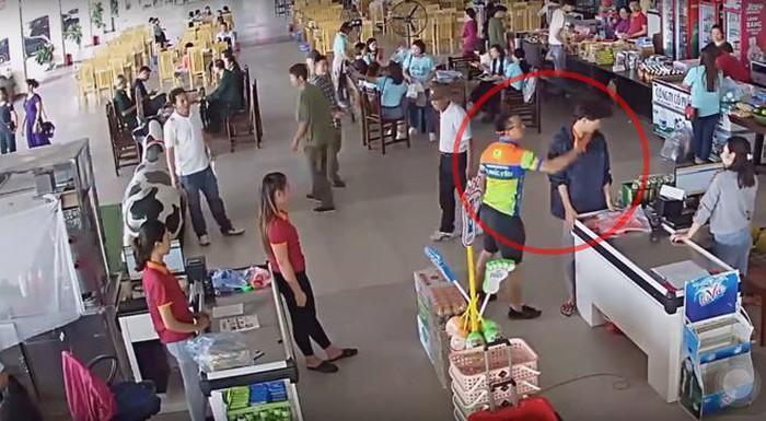 Thái Nguyên: Tạm đình chỉ công tác Thượng úy Công an tát nhân viên siêu thị