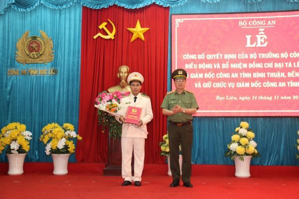 Bạc Liêu và Thái Bình có Giám đốc Công an mới