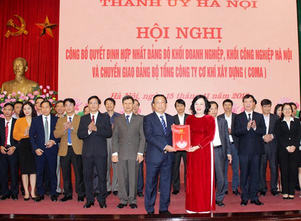 Hợp nhất hai Đảng bộ Khối Doanh nghiệp và Khối Công nghiệp Hà Nội