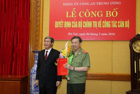 Senior lieutenant-general To Lam appointed Central Public Security Party Committee Secretary