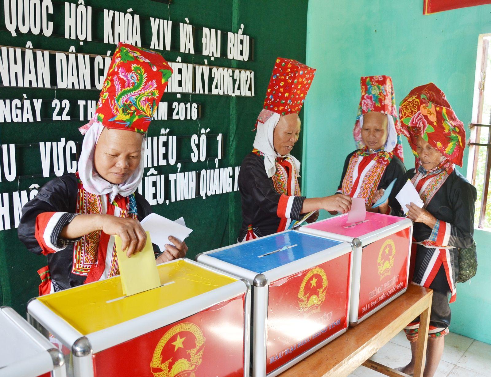 Quang Ninh: 99.66% of electorate cast votes
