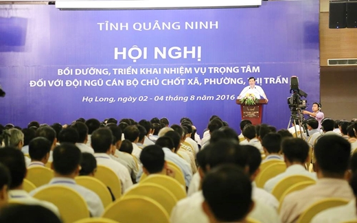 Quang Ninh province organizes meeting for key leaders at grassroots levels