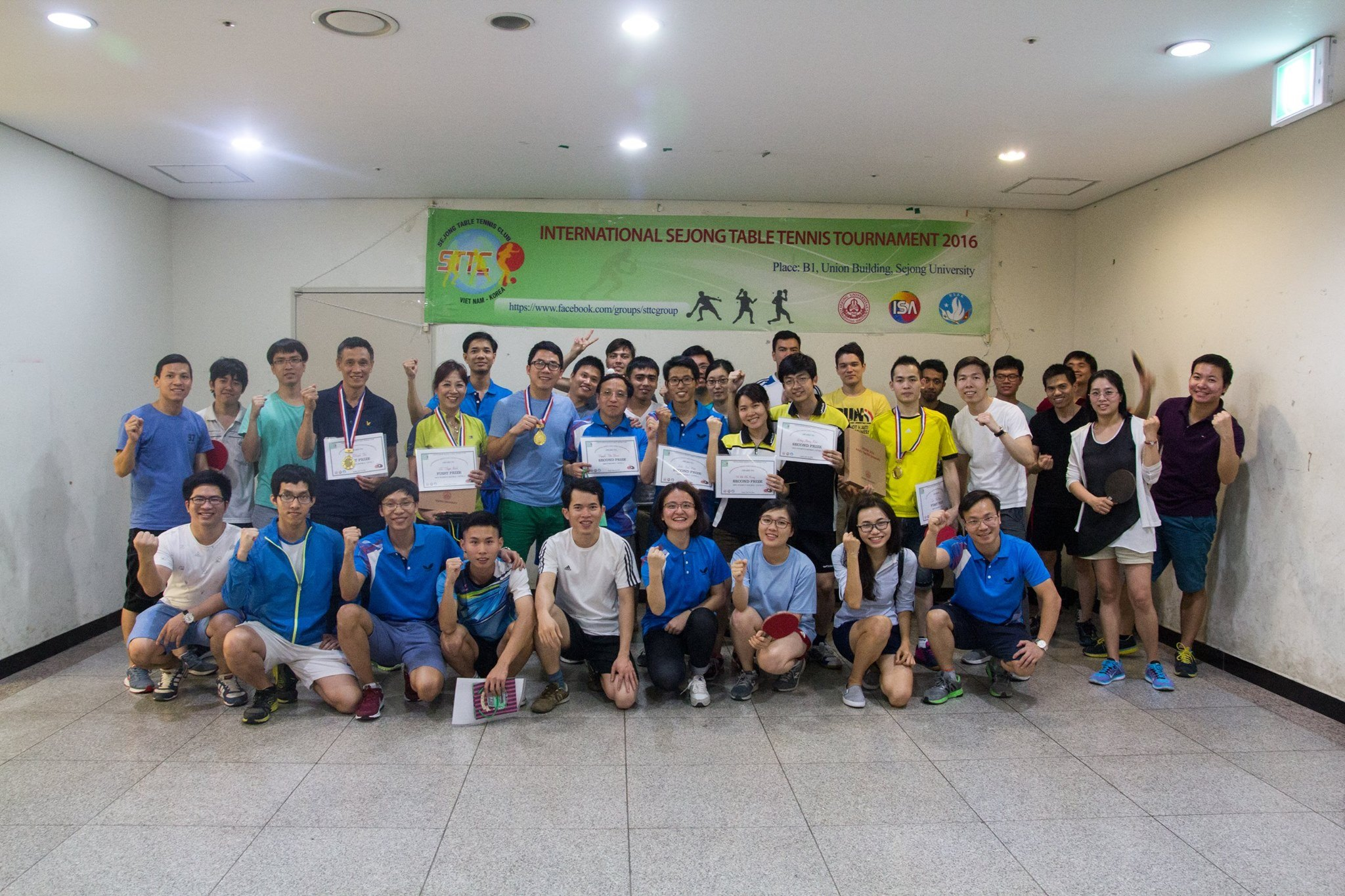 International Sejong table tennis tournament for Vietnamese students in RoK