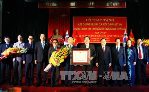 RoK province's Chief presented Order of Friendship