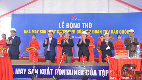 Deputy PM officiates sod turning ceremony in Nghe An
