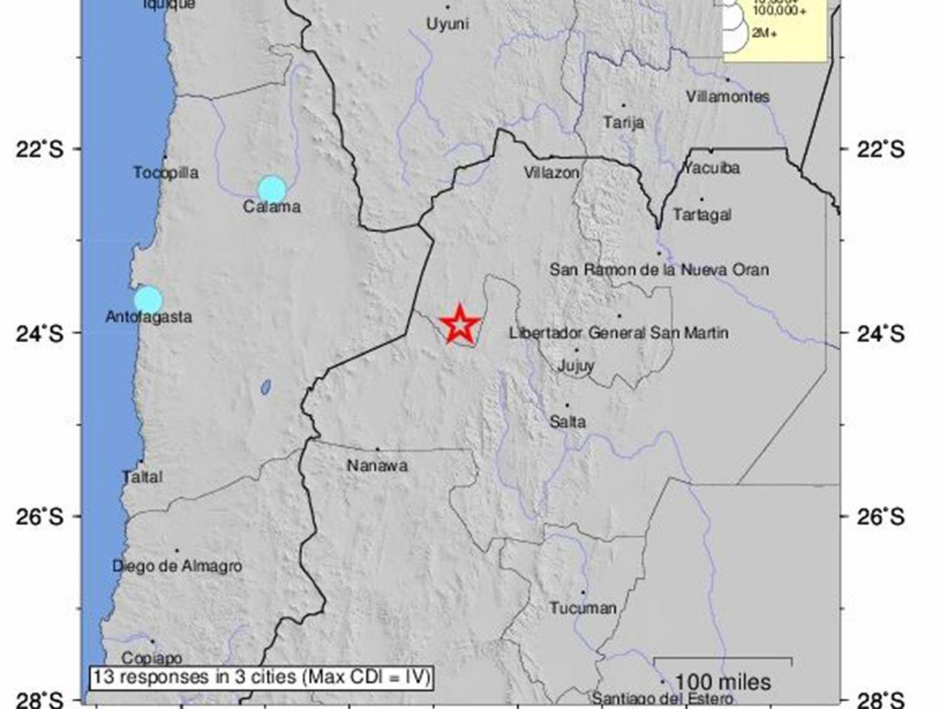 6.3-magnitude earthquake shakes northern Argentina