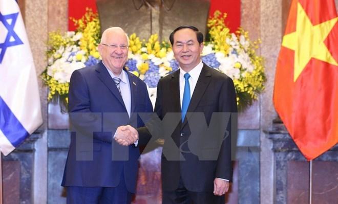 Vietnamese, Israeli Presidents hold talks