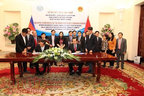 Vietnam, Cambodia increase cooperation in labour