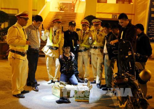 Lang Son province seizes 73 cakes of heroin