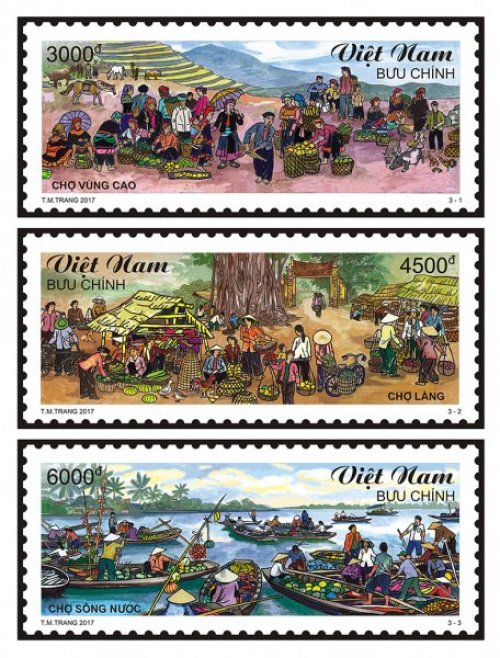 Stamps on Vietnamese markets published