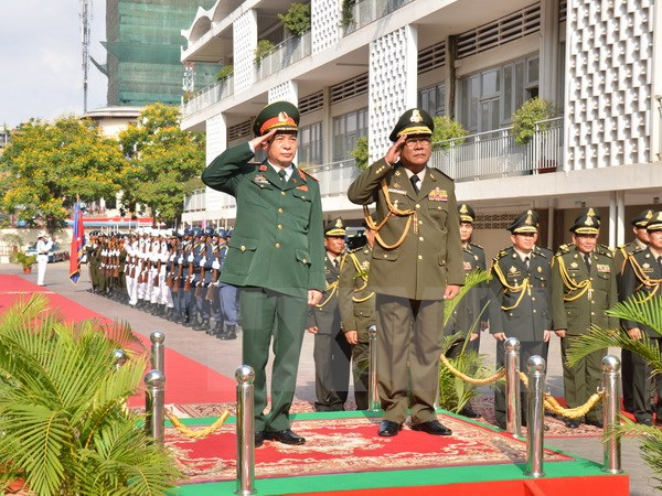 Vietnam, Cambodia boost defence ties