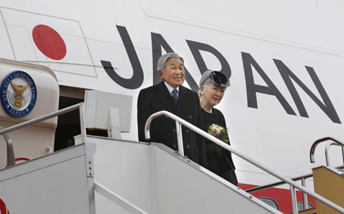 International new agencies reports Japanese King's visit to Vietnam