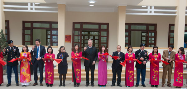 Inaugurating US-constructed school in Ha Giang province