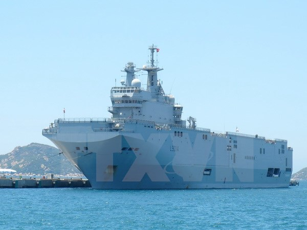 French navy ships visit Ho Chi Minh city
