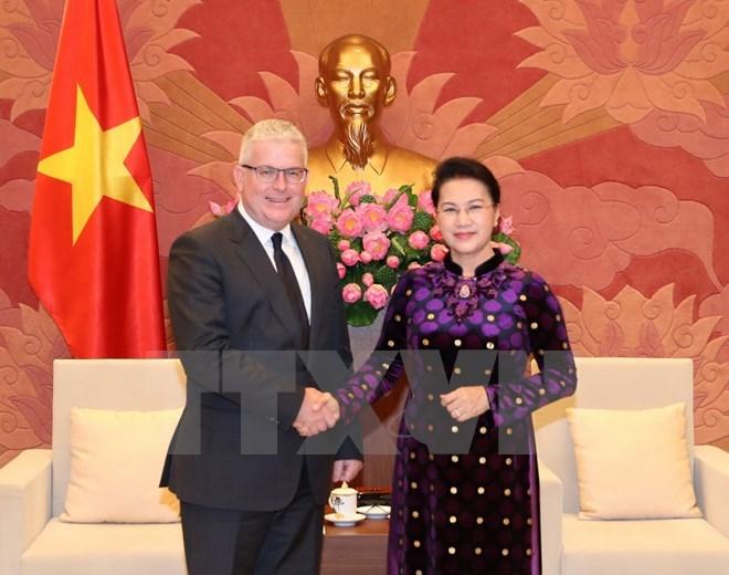 NA leader receives Australian, New Zealand ambassadors