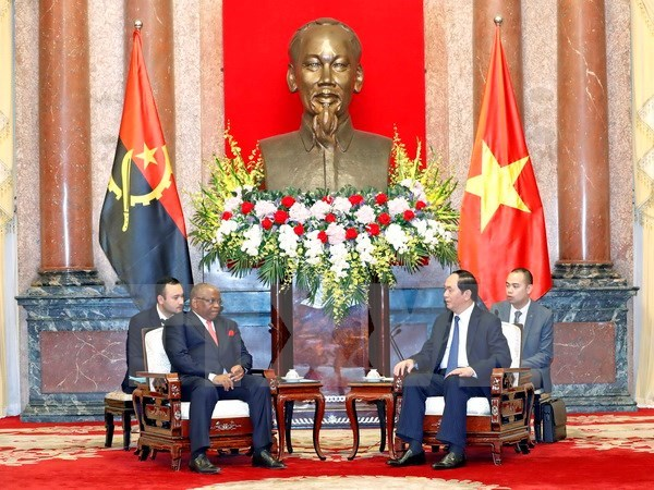 President hails potential for Vietnam, Angola cooperation