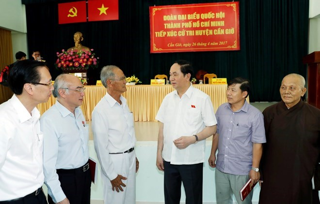 State President meets HCM city voters