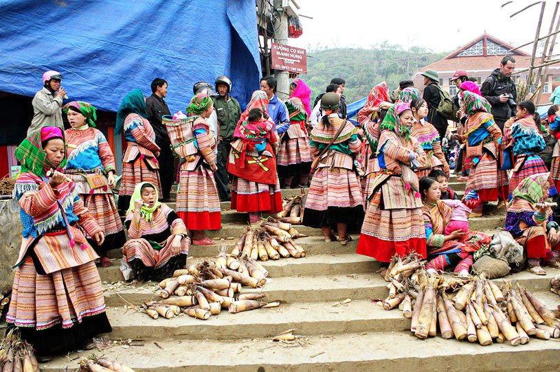 Specific mountainous market at Vietnam National Villages for Ethnic Culture and Tourism
