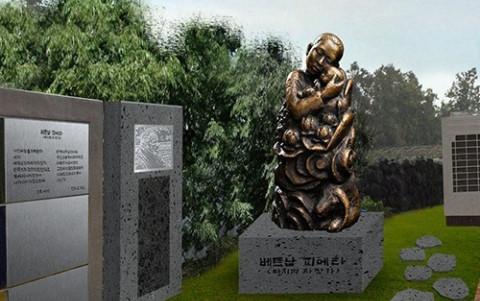 """""""Vietnam Pieta"""" statue placed on Jeju Island"""