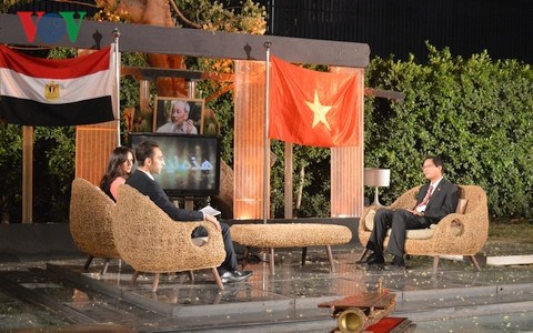 President Ho Chi Minh's career broadcast live on Egyptian television