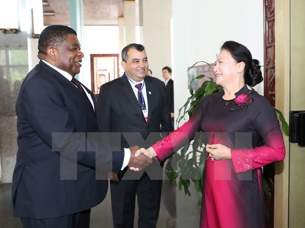 NA Chairwoman receives IPU President, Secretary General