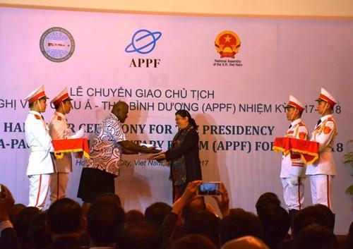 Vietnam takes Presidency of Asia Pacific Parliamentary Forum
